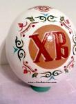 Роспись страусиного яйца на Пасху.