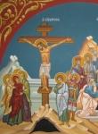 Воскресение Иисуса Христа. Комбинированная икона Распятия и Воскресения.