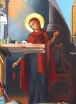 Дева Мария, фрагмент Благовещения