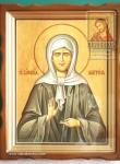 Икона Св. Матроны в киоте