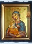 Корфская икона Богородицы в киоте