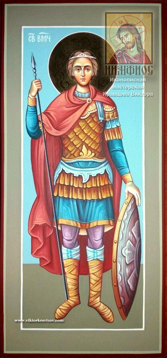 Икона мерная Св. Дмитрий Солунский