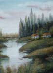 Пейзаж маслом Виктора Кравцова