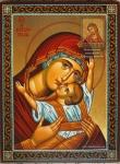 """Икона Божией Матери """"Сладкое Лобзание"""" с орнаментом."""