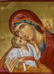 """Икона Божией Матери """"Сладкое Лобзание"""" фрагмент"""