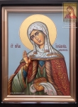 Св. Уилиания - именная икона рукописная в киоте