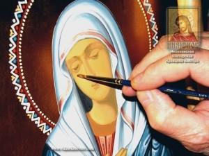 ФОРУМ ПРАВОСЛАВНЫХ РЕМЕСЛЕННИКОВ - ПОРТАЛ The-mother-of-god-painting-300x225